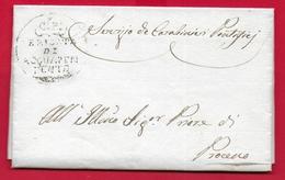 PREFILATELICA PONTIFICIO - 1835 Lettera E Testo ACQUAPENDENTE PROCENO - Brigata Carabinieri Pontifici - Comando Tenenza - 1. ...-1850 Prefilatelia