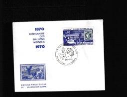 Villiers-sur-Mer Le Daguerre 1870 1970  11-XI-1970   899 - Poststempel (Briefe)