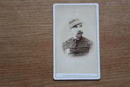 Cdv Photographie Militaire   Second Empire  Général    Lefranc ? Par  Mulnier  Avec Dédicace - Guerra, Militari