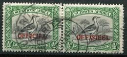 Südwestafrika Dienstmarken Mi# 35/36 Paarstück Gestempelt - South West Africa (1923-1990)