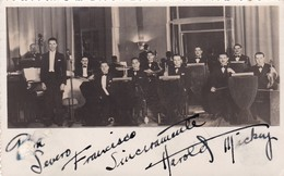 HAROLD MICKEY & ORCHESTRA.  AUTOGRAPH  CIRCA 1920's. MUSICOS DE JAZZ. MUSICIANS MUSICIENS-LILHU - Autógrafos
