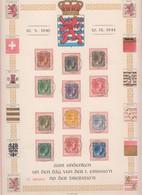 Gr.-Duchesse Charlotte 1944 - Gedenkblatt (aus Esch) Mit Ersttagsstempel - Privados