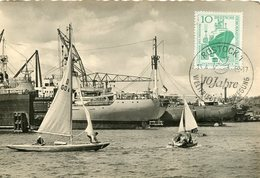 50523 Germany Ddr, Maximum 1959 Rostock -  Mi-663 , Ostsee   Am Hafen, - [6] République Démocratique