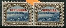 Südwestafrika Dienstmarken Mi# 43/44 Paarstück Gestempelt - South West Africa (1923-1990)
