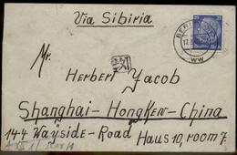 3rd Reich Germany Jewish Ghetto Shanghai China Cover Censor Chops 87607 - Timbres