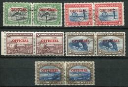Südwestafrika Dienstmarken Mi# 45-54 Paarstücke Gestempelt - South West Africa (1923-1990)