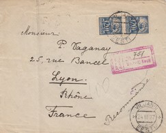 FRONT COVER . REGISTERED 24 3 1927. VILJANDI TO FRANCE - Estonie