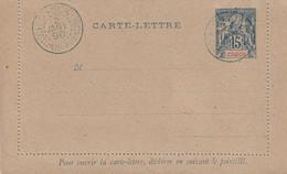 """1 Mini Carte-lettre Pré-affranchie, à 15 (Fr?) - Cachet """"OBOCK Colonie Française"""". Datée Du 2 Janvier 1898. TB état.. - Cartes Postales"""