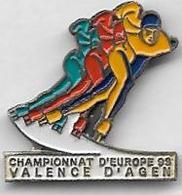 PIN'S - VALENCE D'AGEN - Championnat D'Europe En 1998 De Patinage En Rollers - Pattinaggio Artistico