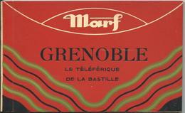 Carnet 12 Cpa Grenoble : Le Téléférique Dela Bastille - Grenoble