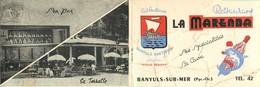 """BANYULS Sur MER-dépliant Restaurant """"la Marenna"""" - Banyuls Sur Mer"""