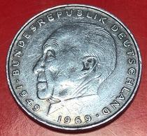 GERMANIA - 1971 - Moneta - Konrad Adenauer - Aquila - 2 Marco  - 2 DM - [ 7] 1949-… : RFA - Rep. Fed. Tedesca
