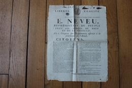 Placard  LIberte Egalité   Armée De La Moselle Et Du Rhin   NEVEU - Historical Documents