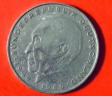 GERMANIA - 1974 - Moneta - Konrad Adenauer - Aquila - 2 Marchi  - 2 DM - [ 7] 1949-… : RFA - Rep. Fed. Tedesca
