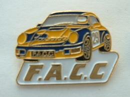 Pin's PORSCHE 911 - RALLYE - F.A.C.C - Porsche