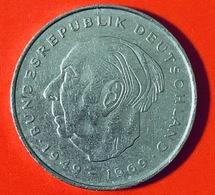 GERMANIA - 1974 - Moneta - Presidente Theodor Heuss - Aquila - 2 Marchi  - 2 DM - [ 7] 1949-… : RFA - Rep. Fed. Tedesca