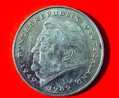 GERMANIA - 1989 - Moneta - Franz Josef Strauss  - Aquila - 2 Marchi  - 2 DM - [ 7] 1949-… : RFA - Rep. Fed. Tedesca