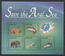 TURKMENISTAN 1996 Bloc N° 5 ** Neufs  MNH Superbes C 8 € Faune Marine Poissons Fishes Sauvons Mer D' Aral Animaux - Turkmenistan