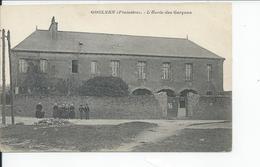 GOULVEN   L'ecole Des Garcons 1915 - Andere Gemeenten