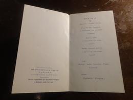 BAGHERIA-MENU' NOZZE DITTA PASTICCERIA AURORA -1952 - Menu