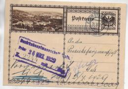 """AK 0405  Bildpostkarte """" Eisemstadt """"  Von Eberstallzell An Die BH Wels Um 1924 - 1918-1945 1st Republic"""