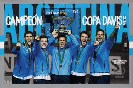 Argentina - 2017 - Argentina - Davis Cup Winner - Mint Souvenir Sheet - Ungebraucht