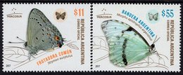 Argentina - 2017 - Mercosur - Butterflies - Mint Stamp Set - Ungebraucht