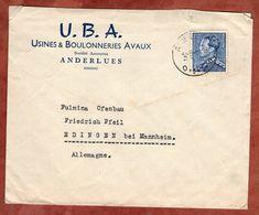 Vordruckbrief, Koenig Leopold, Anderlues Nach Edingen 1951? (89552) - Belgien