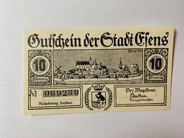 Allemagne Notgeld Esens 10 Pfennig - Collections