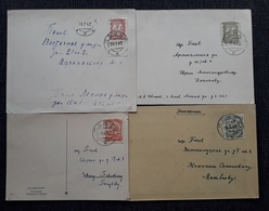 Pleskau 1941/42, Postkarten Mi 10-11, 14-15 - Occupation 1938-45