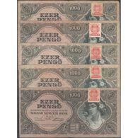 TWN - HUNGARY 118b - 1000 1.000 Pengo 15.7.1945 DEALERS LOT X 5 - Various Series VG/F - Ungheria