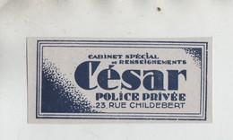 César Cabinet Spécial De Renseignements Police Privée Lyon - Werbung