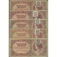 TWN - HUNGARY 119b - 10000 10.000 Pengo 15.7.1945 DEALERS LOT X 5 - Various Series VG/F - Ungheria