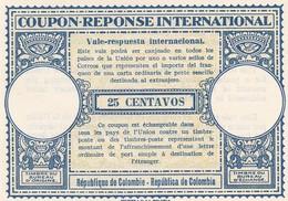 COUPON-REPONSE INTERNATIONAL. 25 CENTAVOS, REPUBLICA DE COLOMBIA. VALE-RESPUESTA INTERNACIONAL. NOT USED  -LILHU - Colombie