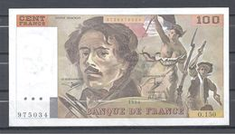 Billet 100 Francs Delacroix 1990 O 150 Quasi Neuf - 1962-1997 ''Francs''