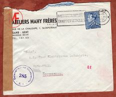 Vordruckbrief, Koenig Leopold, Gent Nach Wien, Zensur 1951 (89558) - 1934-1935 Leopold III.