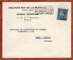 Vordruckbrief, Koenig Leopold, Bruessel Nach Rueti 1950? (89559) - 1934-1935 Leopold III.