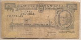Angola - Banconota Circolata Da 20 Scudi P-92 - 1962 #18 - Angola