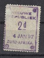 Zuid Afrika , Nieuwe Republiek, 1886 Mi Nr 21, Datum 4-1-1887 - Sud Africa (...-1961)