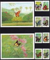 Maldives,butterflies,2 S/s+ 8 V,mint/** - Butterflies