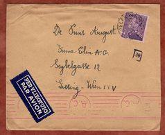 Luftpost, Koenig Leopold, Mechelen Nach Wien, Band-MS Zensur, 1943 (89564) - 1934-1935 Leopold III.