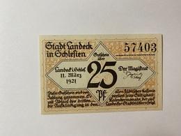 Allemagne Notgeld Landeck 25 Pfennig - [ 3] 1918-1933 : République De Weimar