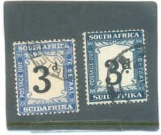 "1927 AFRIQUE DU SUD "" Taxe Y & T N° 20 Dent.14 Et 1931  N°27 Dent 15 X 14  ( * ) Les 2 Timbres - New Republic (1886-1887)"