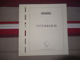 """Autriche Schaubek 20 Pages Imprimées """"brillant"""" Avec Pochettes Cristal Pour Feuillets De 1988 à 2001  état Neuf  10 € - Album & Raccoglitori"""