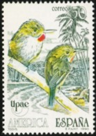 SPAIN 1990 America UPAEP Birds Puerto Rican Tody Animals Fauna MNH - Birds
