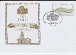 Germany Postal Stationary 2006 Schinkel W/print 300 J Deutscher Dom Used Bonn 2008 (G52-86) - Sobres Privados - Usados