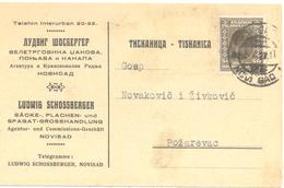 JUDAICA CHOSBERGER  LUDWIG NOVI SAD YEAR 1927 - Servië