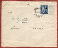 Brief, Koenig Leopold, Heist-Aan-Zee Nach Wien 1938 (89568) - 1934-1935 Leopold III.