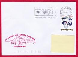 3057 Marine, PH Jeanne D'Arc, GEAOM 2009-2010, Cap Horn, Oblit.mécanique PH Jeanne D'Arc, Les Marins De La Jeanne (3057) - Naval Post