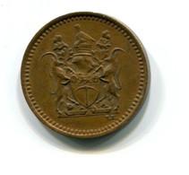 1972 Rhodesia 1/2 Cent Coin - Rhodesien